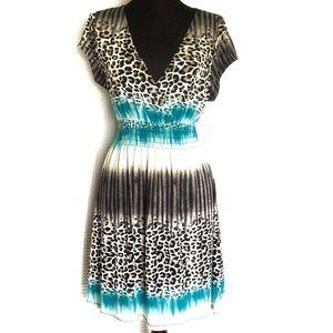 Cristinalove Dress Black and White Cheetah Size XL